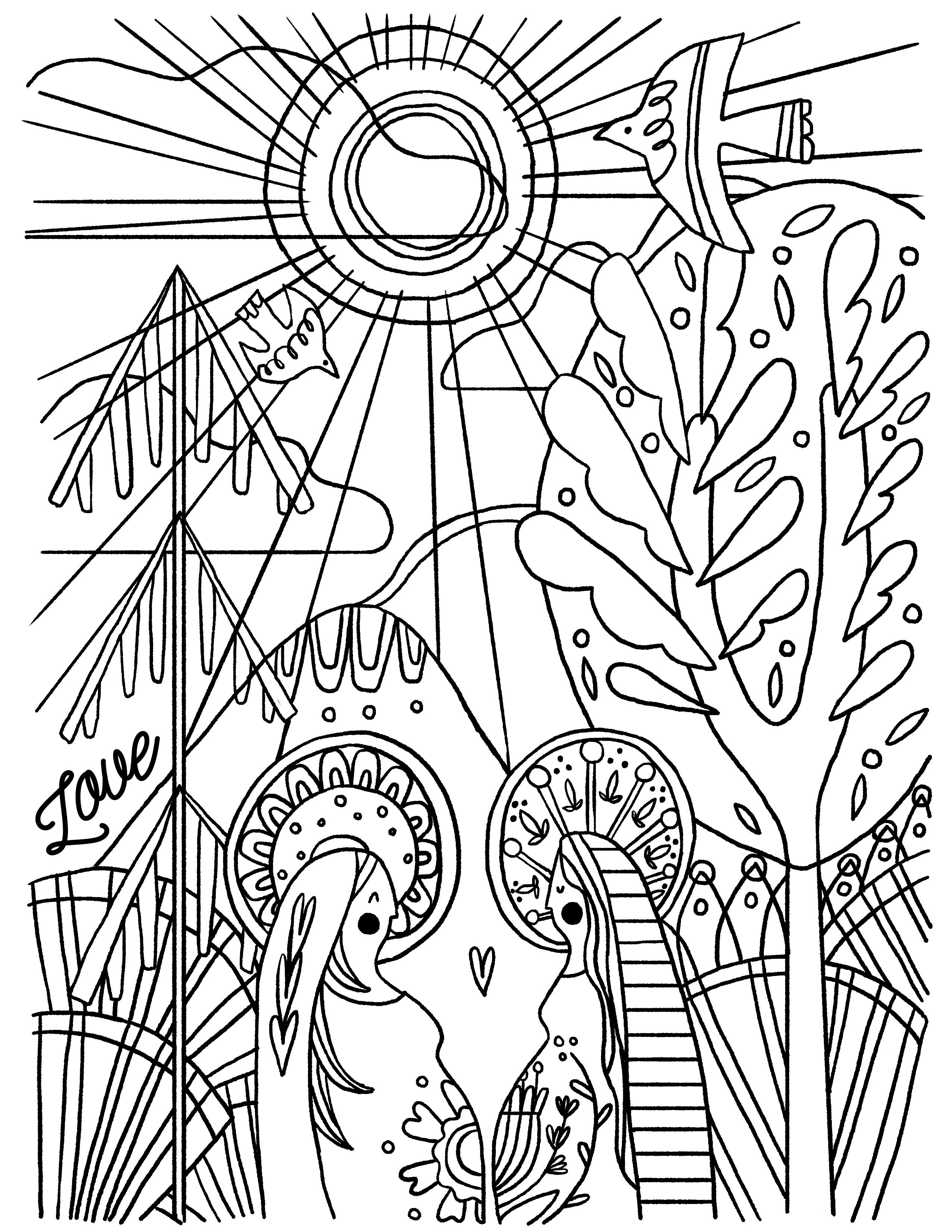 advent coloring pages joy - photo#20